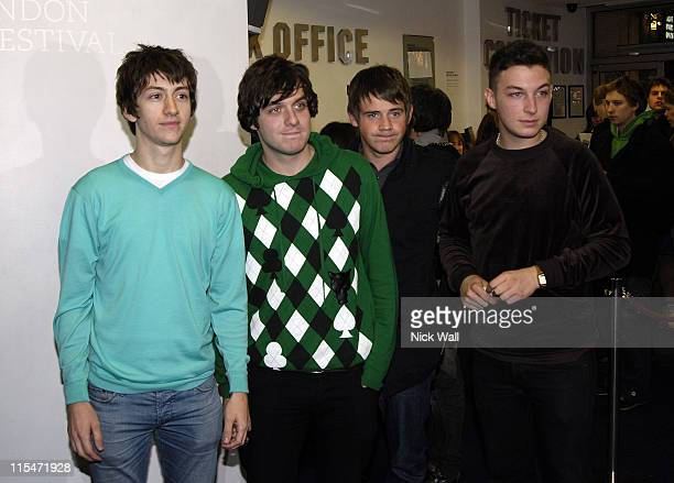 Arctic Monkeys during The Times BFI London Film Festival 2006 ''This is England'' Premiere at This is Englan in London Great Britain
