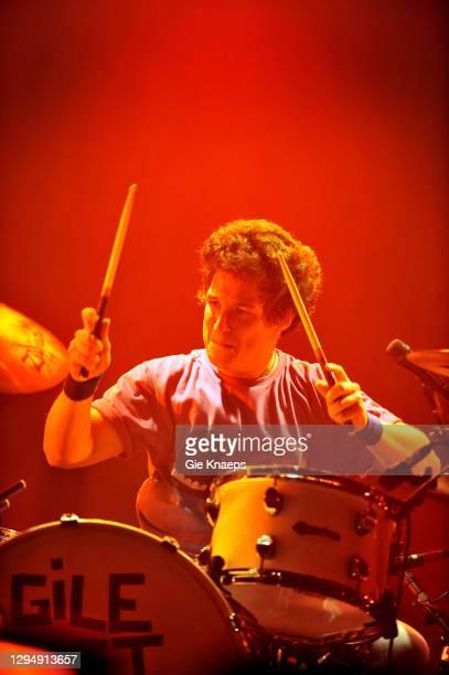 Arctic Monkeys, Matt Helders, Lotto Arena, Antwerpen, Belgium, 3rd November 2009.