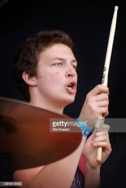 Arctic Monkeys, Matt Helders, Rock Werchter Festival, Werchter, Belgium, 1st July 2006.
