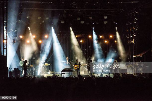 Arctic Monkeys perform at Hollywood Forever on May 5 2018 in Hollywood California
