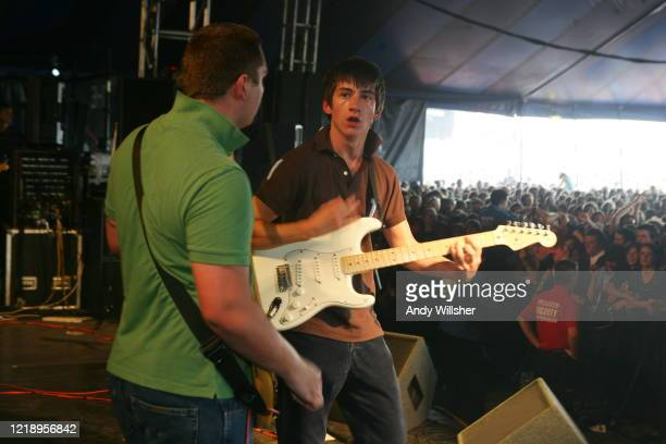 Arctic Monkeys performing at Reading Festival 2005