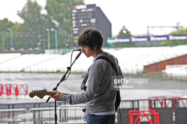 Arctic Monkeys soundcheck at Old Traffiord Cricket Ground July 2007