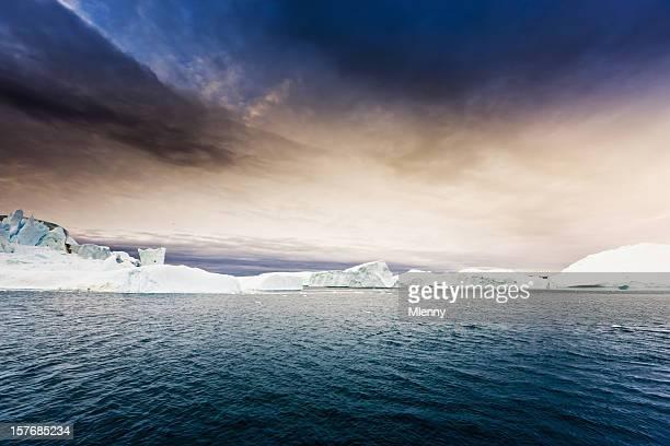 北極ノースポール icebergs グリーンランド ice フィヨルド - 北極点 ストックフォトと画像