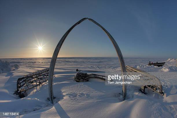 Arctic Ocean Sunset in Barrow, Alaska