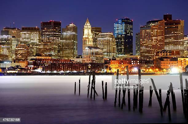 Arctic Sea Smoke on the Boston Harbor