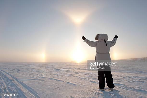 Arctic Sundog or Parhelion