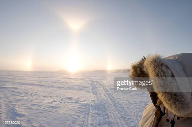 Arctic Sundogs or Parhelion in Canada's Arctic.