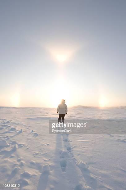 Arctic Sundogs or Parhelion