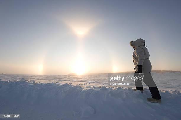 Arctic Sundogs or Parhelion.