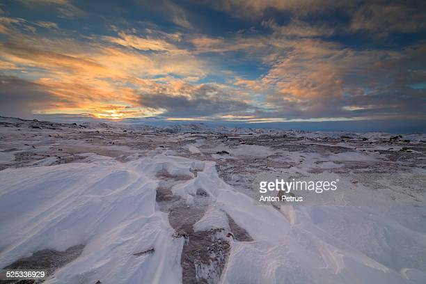 arctic tundra at sunset - anton petrus stock pictures, royalty-free photos & images