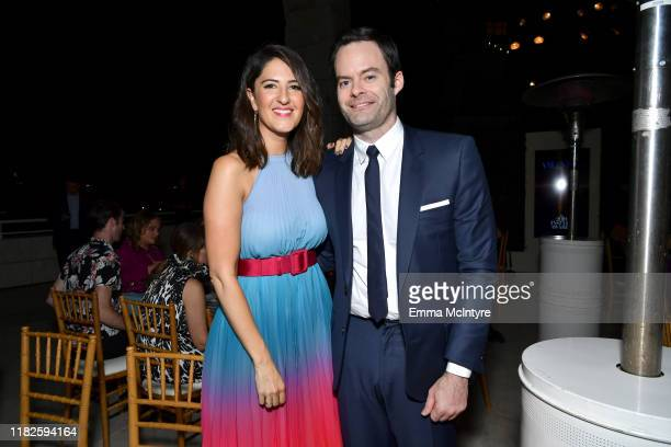 Arcy Carden and Bill Hader attend the Fifth Annual InStyle Awards at The Getty Center on October 21 2019 in Los Angeles California