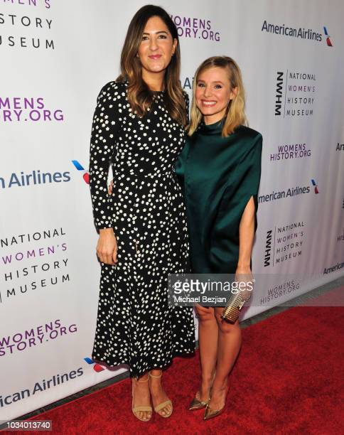 Arcy Carden and Kristen Bell arrive at Women Making History Awards Los Angeles on September 15 2018 in Los Angeles California