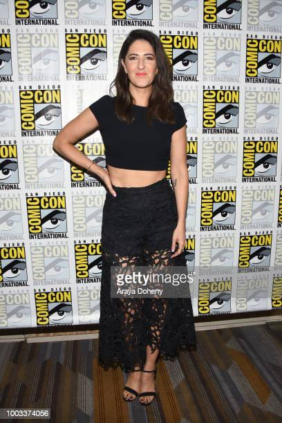 Arcy Carden attends the 'The Good Place' Press Line during ComicCon International 2018 at Hilton Bayfront on July 21 2018 in San Diego California