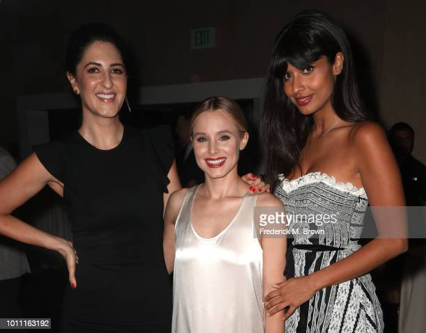 D'Arcy Carden Kristen Bell and Jameela Jamil attend the 34th Annual Television Critics Association Awards during the 2018 Summer TCA Tour at The...
