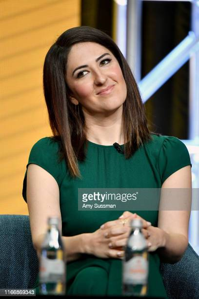 Arcy Carden of 'The Good Place' speaks during the NBC segment of the 2019 Summer TCA Press Tour at The Beverly Hilton Hotel on August 08 2019 in...