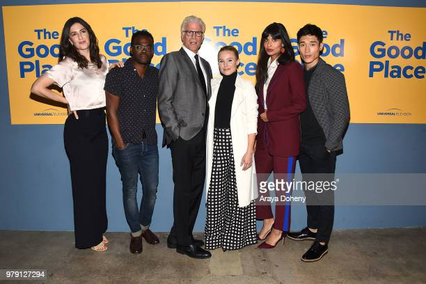 Arcy Carden William Jackson Harper Ted Danson Kristen Bell Jameela Jamil and Manny Jacinto attend Universal Television's FYC The Good Place at UCB...