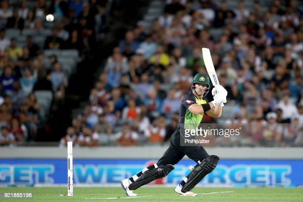 Arcy ShortÊ of Australia bats during the International Twenty20 Tri Series Final match between New Zealand and Australia at Eden Park on February 21...