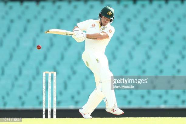Arcy Short of CA XI bats during day two of the four day International Tour Match between the Cricket Australia XI and India at Sydney Cricket Ground...