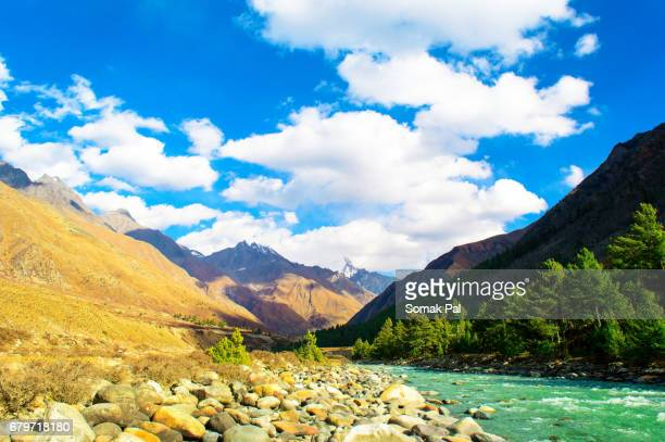 ard  Chitkul Valley in the Himalayan Mountain Range