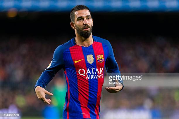 Arda Turan during the match between FC Barcelona vs Malaga CF for the round 12 of the Liga Santander played at Camp Nou Stadium on 19th November 2016...
