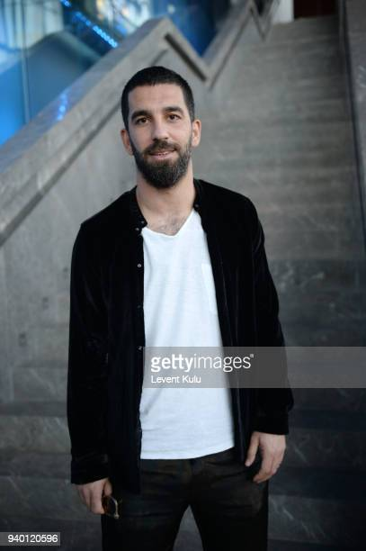 Arda Turan is seen during MercedesBenz Istanbul Fashion Week on March 30 2018 in Istanbul Turkey