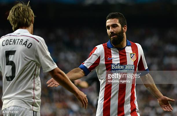 Arda Turan of Atletico Madrid seen during the UEFA Champions League quarterfinal second leg match between Real Madrid CF and Club Atletico de Madrid...