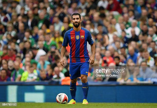 Arda Turan of Barcelona during the International Champions Cup series match between Barcelona and Celtic at Aviva Stadium on July 30 2016 in Dublin...