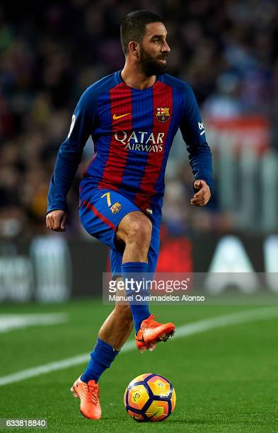Arda Turan of Barcelona in action during the La Liga match between FC Barcelona and Athletic Club at Camp Nou Stadium on February 4 2017 in Barcelona...