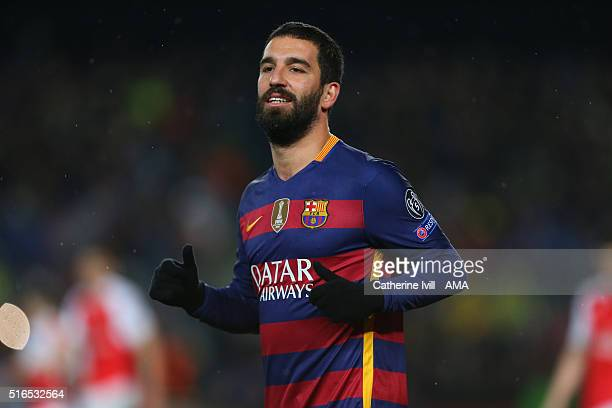 Arda Turan of FC Barcelona during the UEFA Champions League match between FC Barcelona and Arsenal at Camp Nou on March 16 2016 in Barcelona Spain