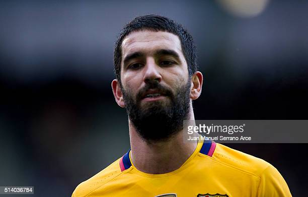 Arda Turan of FC Barcelona reacts during the La Liga match between SD Eibar and FC Barcelona at Ipurua Municipal Stadium on March 6 2016 in Eibar...