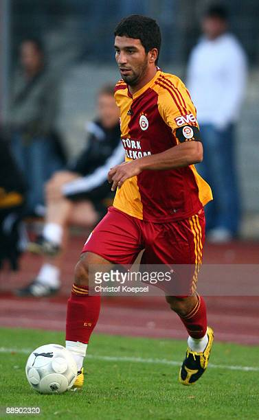 Arda Turan of Galasataray runs with the ball during the Zayon Cup match between Galatasaray Istanbuch and Wydad AC Casablanca at the Lorheide stadium...