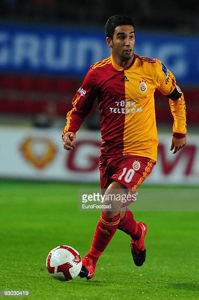Arda Turan of Galatasaray during the Turkish Super League match between Fenerbahce and Galatasaray held on October 25, 2009 at Sukru Saracoglu...