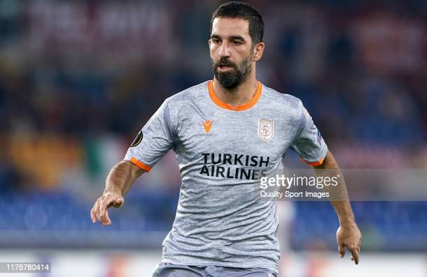 Arda Turan of Istanbul Basaksehir looks on during the UEFA Europa League group J match between AS Roma and Istanbul Basaksehir F.K. At Stadio...