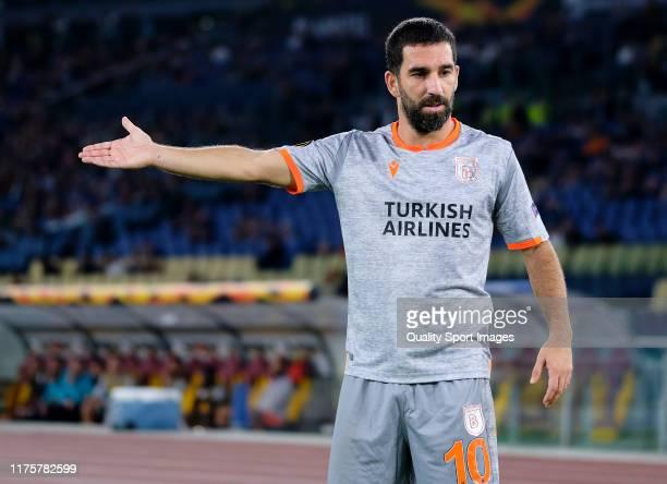 Arda Turan of Istanbul Basaksehir reacts during the UEFA Europa League group J match between AS Roma and Istanbul Basaksehir F.K. At Stadio Olimpico...