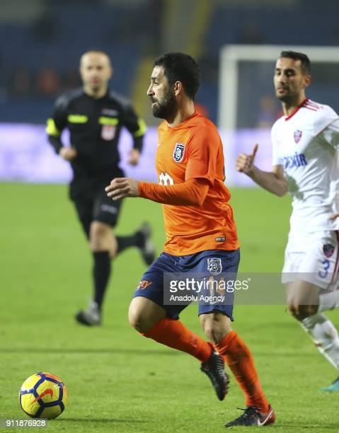 Arda Turan of Medipol Basaksehir in action during the Turkish Super Lig soccer match between Medipol Basaksehir and Kardemir Karabukspor at the Fatih...