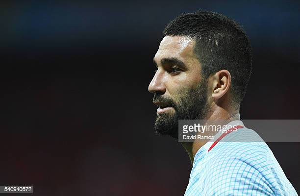 Arda Turan of Turkey looks on during the UEFA EURO 2016 Group D match between Spain and Turkey at Allianz Riviera Stadium on June 17 2016 in Nice...