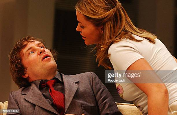 Ardal O'Hanlon and Patsy Kensit in the production See You Next Tuesday at the Albery Theatre London Copyright Robbie Jack 9/26/03