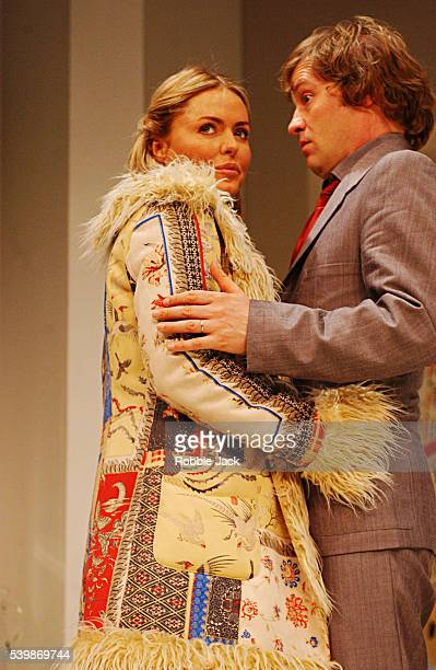Ardal O'Hanlon and Patsy Kensit in the production See You Next Tuesday at the Albery Theatre London
