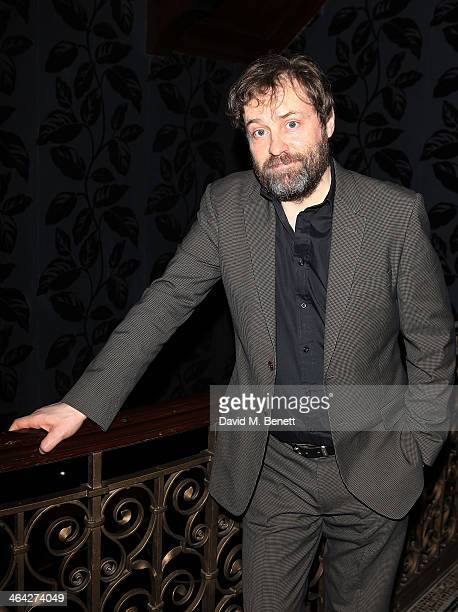Ardal O'Hanlon attends an after party following the press night performance of The Weir at the Horseguards Hotel on January 21 2014 in London England
