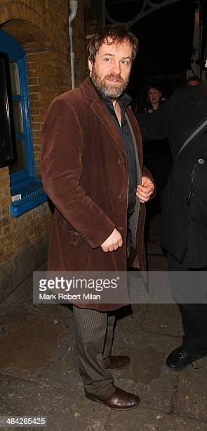 Ardal O'Hanlon leaving the Weir press night on January 21 2014 in London England