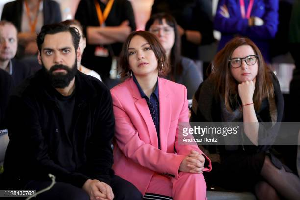 Ardalan Esmail and Emma Drogunova are seen during the photo call presenting the European Shooting Stars 2019 as part of the 69th Berlinale...