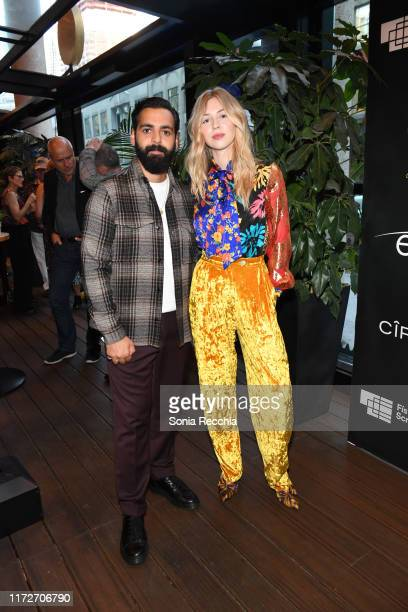 Ardalan Esmaili and Hermione Corfield attend prescreening cocktail reception for the world premiere film Sea Fever at Pick 6ix Sports on September 05...