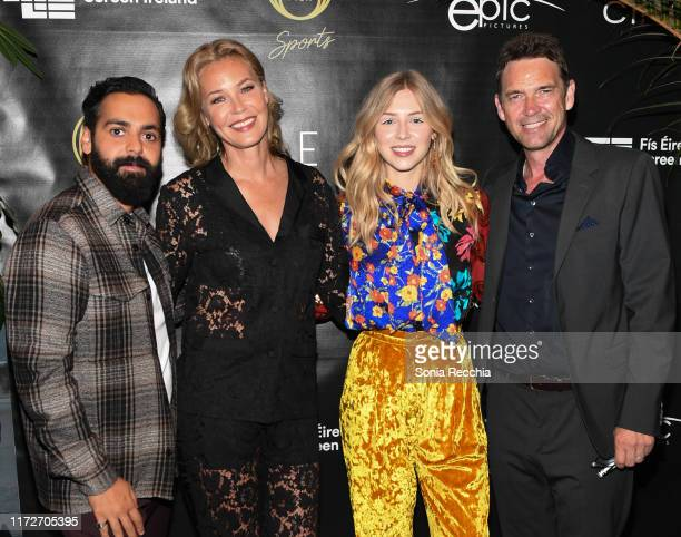 Ardalan Esmaili Connie Nielsen Hermione Corfield and Dougray Scott attend prescreening cocktail reception for the world premiere film Sea Fever at...