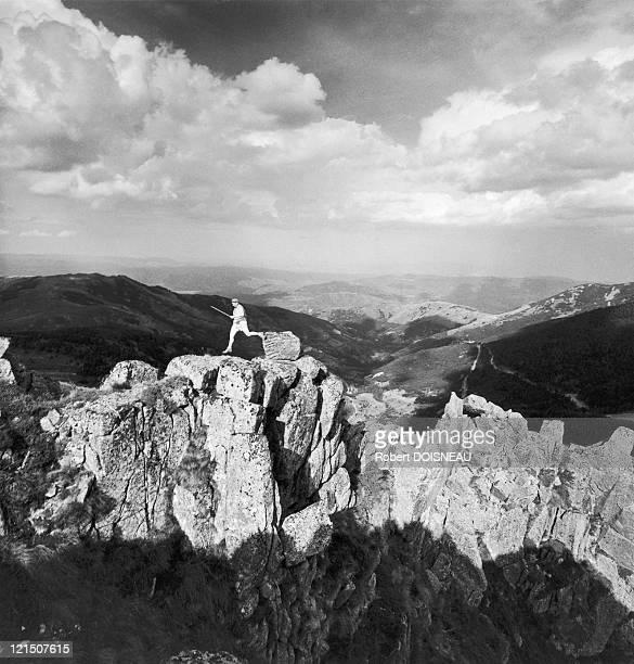 Ardeche: Trekking On The Malpertus Rocks In July 1961