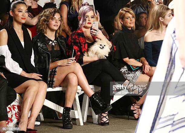 Arden Cho Camren Bicondova Kelly Osbourne and Candace Cameron Bure attend Front Row at Milly September 2016 New York Fashion Week at Art Beam on...