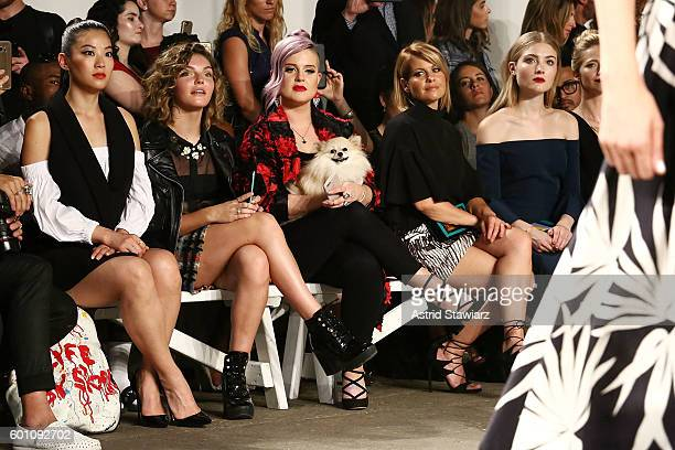 Arden Cho Camren Bicondova Kelly Osbourne Candace Cameron Bure and Skyler Samuels attend Front Row at Milly September 2016 New York Fashion Week at...
