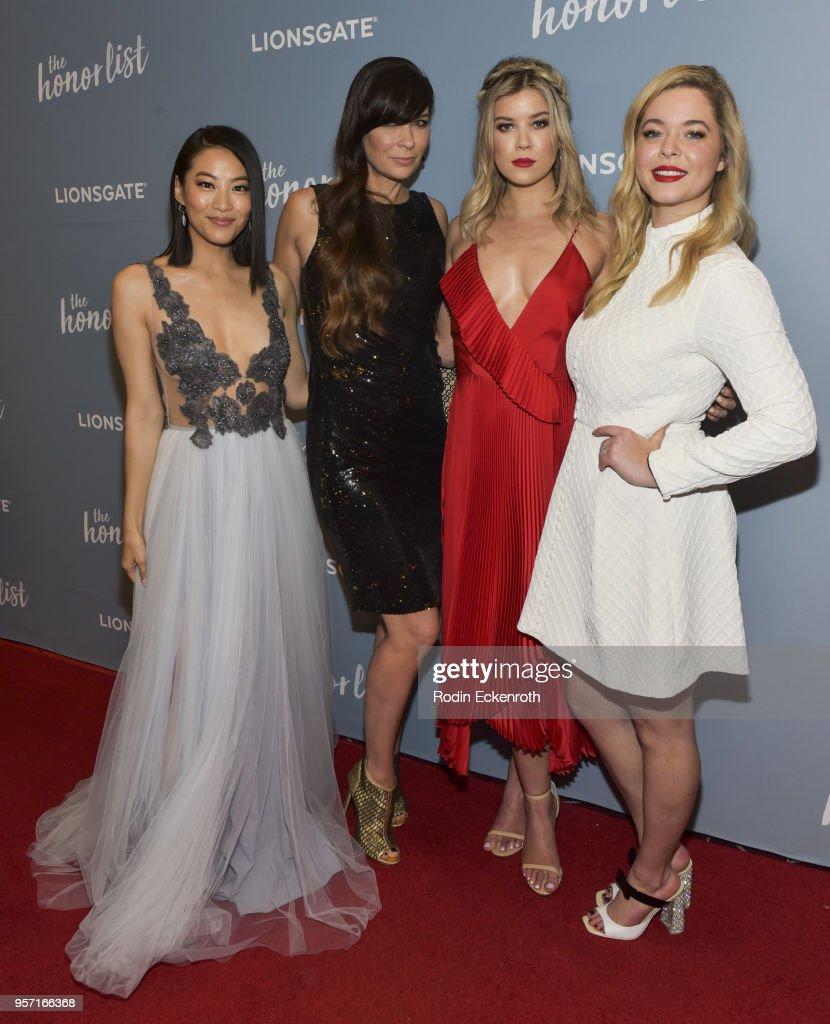 Arden Cho, Elissa Down, Meghan Rienks, and Sasha Pieterse attend a special screening of 'The Honor List' at The London Hotel on May 10, 2018 in West Hollywood, California.
