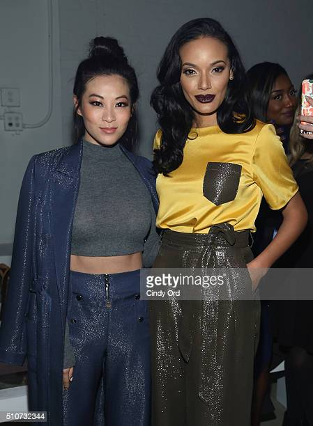 Arden Cho Selita Ebanks attend the Georgine Fall 2016 fashion show during New York Fashion Week The Shows at The Gallery Skylight at Clarkson Sq on...