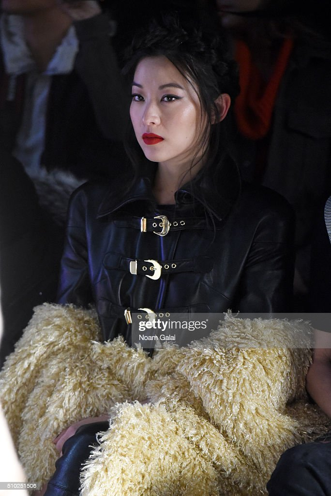 Arden Chow attends the Noon By Noor Fall 2016 fashion show during New York Fashion Week: The Shows at The Dock, Skylight at Moynihan Station on February 14, 2016 in New York City.