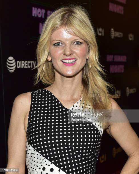 Arden Myrin arrives at the screening of A24's 'Hot Summer Nights' at Pacific Theatres at The Grove on July 11 2018 in Los Angeles California